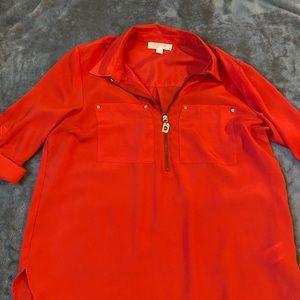 Coral color Michael Kors blouse